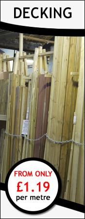 Decking from only 79p per metre +vat