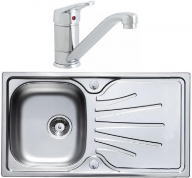Humber Single Bowl Stainless Steel Sink with Finesse Tap