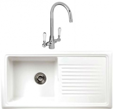 Single Bowl Liffey Ceramic Sink with Monobloc Tap