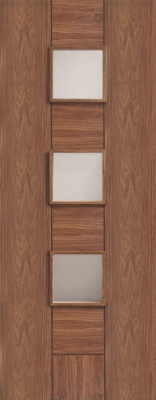Internal Pre-finished Messina Walnut Door with Clear Glass
