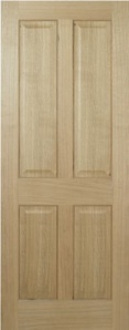 Pre-Finished Oak Regency 4 panel