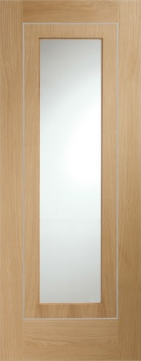 Varese Pre-Finished Internal Oak Door with Clear Glass