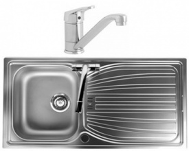 Alto Single Bowl Stainless Steel Sink with Finesse Tap