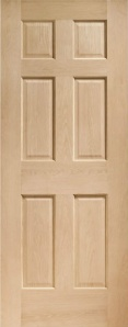 Interior Colonial 6 Panel Oak Door