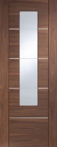 Internal Portici Walnut With Etched Glass