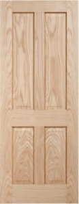 Oak Regency 4 Panel Door