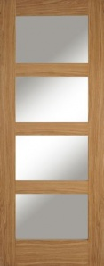 Oak Contemporary 4 Light Door