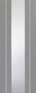 Internal Forli Light Grey Door With Clear Glass