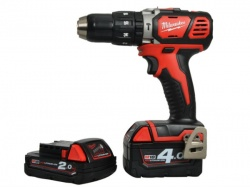 Milwaukee 18V Cordless Combi Drill with 1 x 4Ah & 1 x 2Ah Li-Ion Batteries