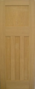 Oak 1930's Style 4 Panel Door
