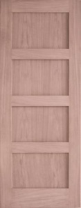 Oak Contemporary 4 Panel Door
