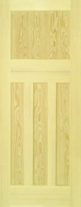 Clear Pine 1930's Style 4 Panel Door