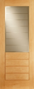 Contemporary Oak Salvador 1L/4P Door