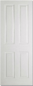 White Moulded 4 Panel Door
