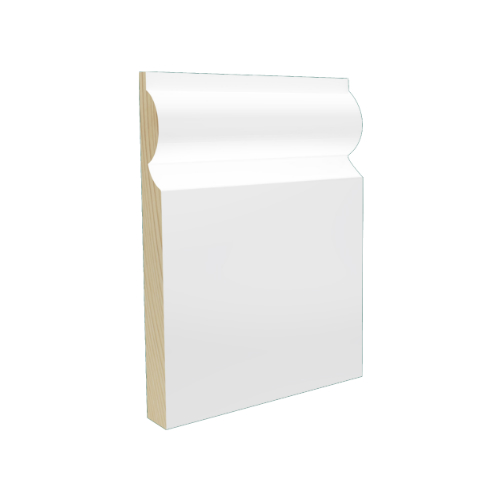 Smart Timber Pre-Finished White Engineered Skirting
