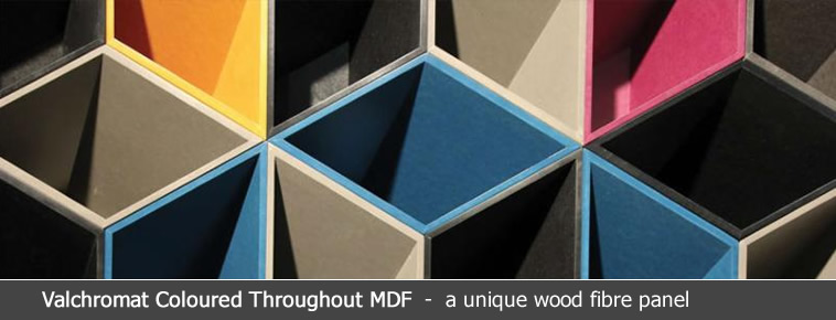 Valchromat coloured mdf