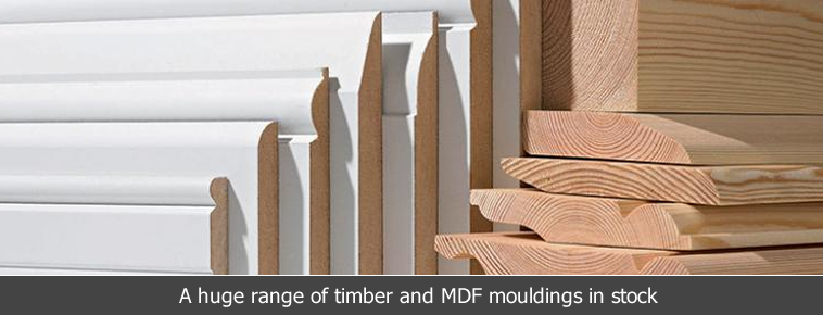 Huge range of timber and MDF mouldings in stock