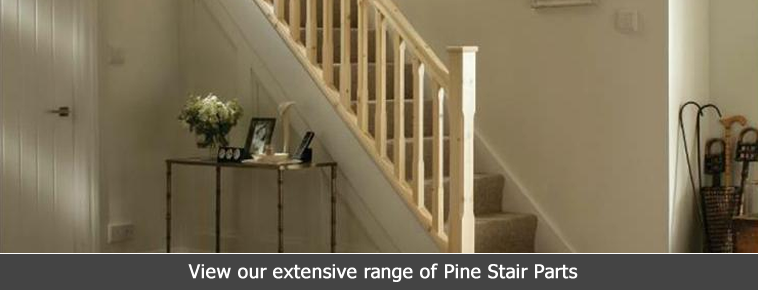Pine Stair Parts