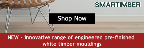 Smart Timber pre-finished white engineered mouldings