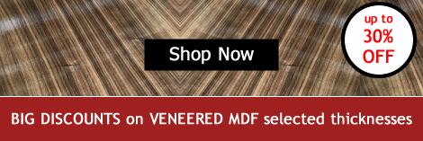 big reductions on selected thicknesses of veneered mdf