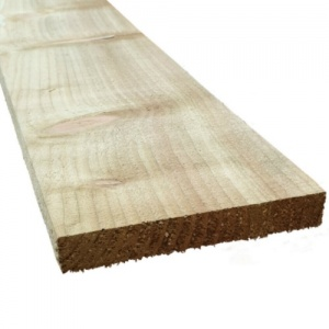 150mm x 22mm (6'' x 1'') Treated Softwood - Rough Sawn - Over 3m