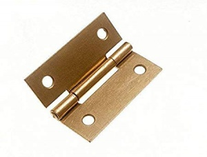 2'' Butt Hinge Electroplated Brass Pair