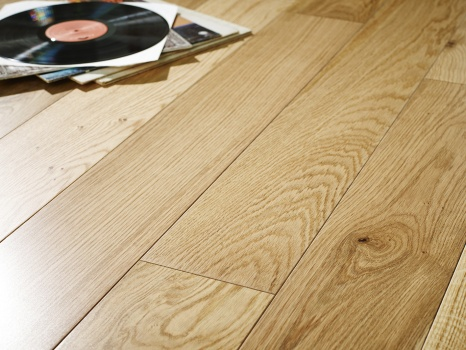 150mm x 20/6 Engineered Oak Flooring Natural Brushed & Lacquered Oak(1.98m2 pack)
