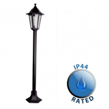 Black Outdoor 1.2m Bollard Light IP44