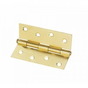 4'' Butt Hinge Electroplated Brass Pair