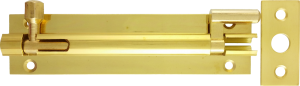 4 inch Brass Barrel Bolt - Necked