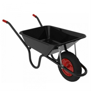 Black Steel Wheel Barrow 85 ltr