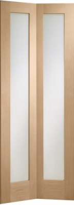 Internal Oak Pattern 10 Clear Glazed Bi-Fold Door