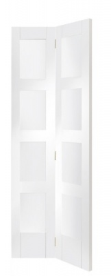 Internal White Primed Shaker Glazed Bi-Fold Door