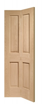 Internal Oak Victorian 4 Panel Bi-Fold Door