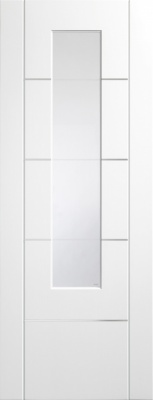 Internal Pre-Finished White Portici Glazed Door (78'' x 30'')
