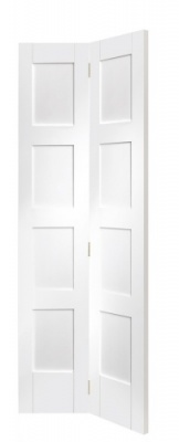 Internal White Primed Shaker Bi-Fold Door