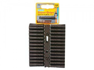 Plasplugs Brown Super Grips Wall Fixings (100)