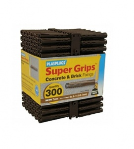 Plasplugs Brown Super Grips Wall Fixings (300)