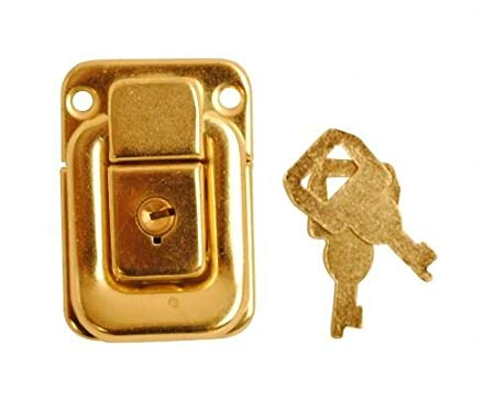 Case Lock Electroplated Brass
