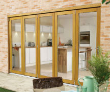 NUVU Oak Folding/Sliding External Doorsets