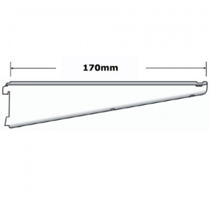 Sapphire twin slot 170mm Shelf Bracket White