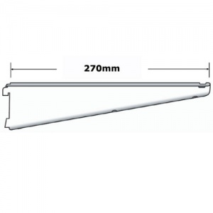 Sapphire twin slot 270mm Shelf Bracket White