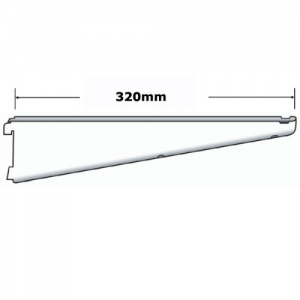 Sapphire twin slot 320mm Shelf Bracket White