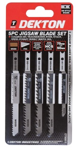 Dekton Jigsaw Blades Set of 5 assorted Blades