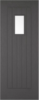 External Charcoal Grey Embossed Suffolk 1L Door