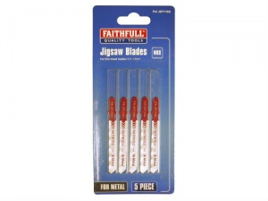 Faithfull Jigsaw Blades T118G Fine cut in thin metals