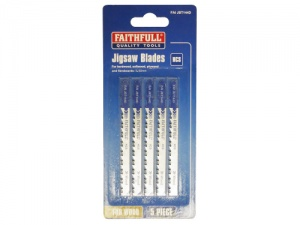 Faithfull Jigsaw Blades T144D Clean Cut for Wood and Laminated Chipboard