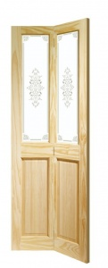 Clear Pine Victorian Bi-Fold Door with Campion Glass