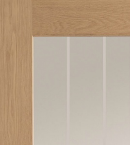 Internal Oak Suffolk Clear Etched P10 Glazed Door