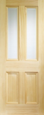 Internal Vertical Grain Pine Edwardian with Clear Bevelled Glass